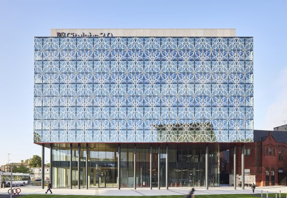 External view of developer Bruntwood's Citylabs 2.0 building in Manchester by architects Sheppard Robson